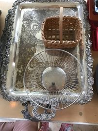 Silver Platers, servers, baskets