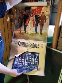 1945 Garage Advertising Calendar