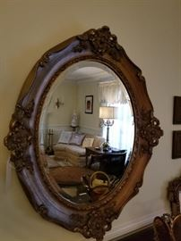 Mirror 2 oval with heavy gesso