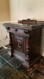 Rockford Console table w stone top