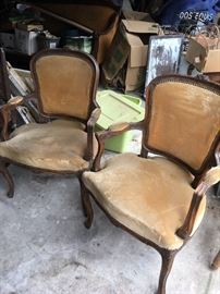 antique french chairs - may need upholstery