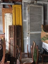Numerous shutters for decoration