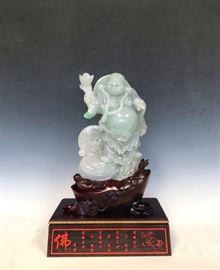 JD862 Jadeite Standing Buddha