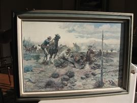 Framed Roger Williams print: 42x35 inches