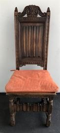 Kittinger Vintage Mahogany Gothic Chair