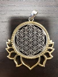 Sterling Silver Gold Pendant
