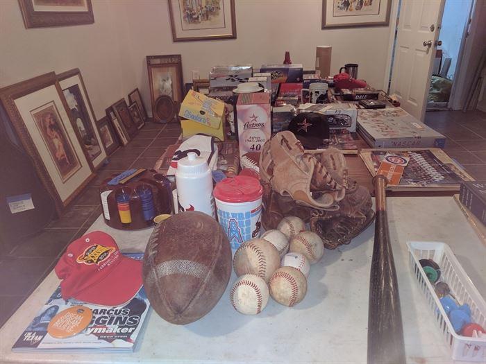Sports memorabilia - baseball, football, NASCAR