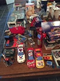NASCAR metal cars and memorabilia