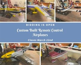 Custom Built Remote Control Model Airplanes