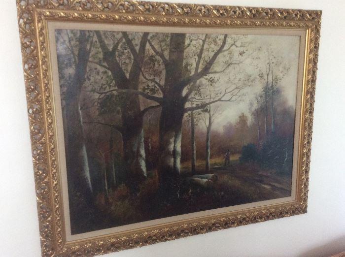 Unique oil painting
