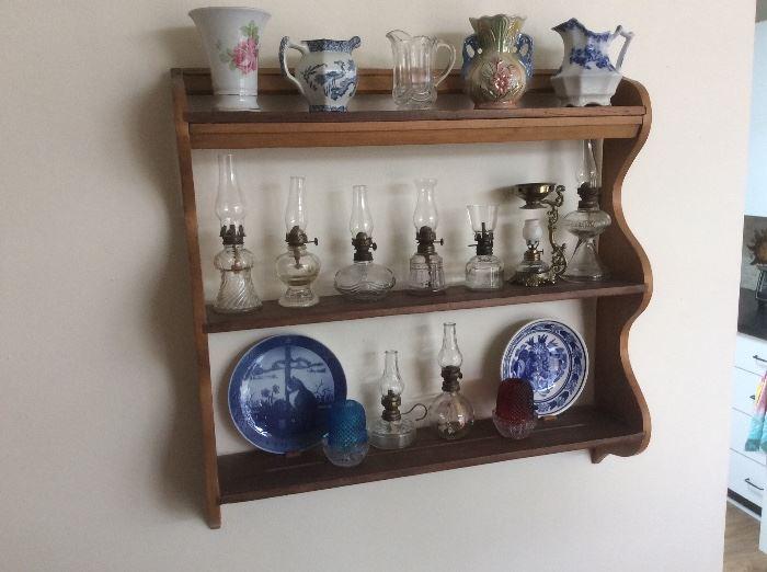 Mini old oil lamps. ( sickroom lamps )