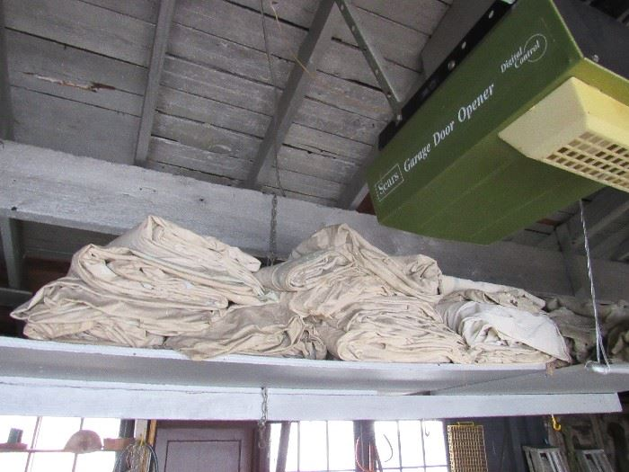 old painters tarps