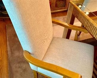 8 Canadel linen parsons chairs