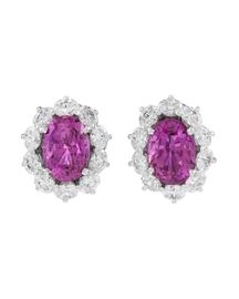 Lot 598 Pink Ceylon Sapphire Earrings