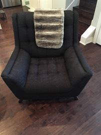 Fur throw. *please see height measurements for chair on couch and love seat pictures. Chair- length 3ft1in