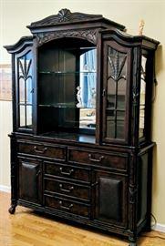 Curio hutch display cabinet