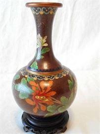 Enamel vase