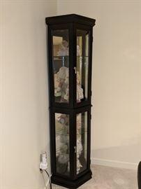 $50  Black/glass corner cabinet