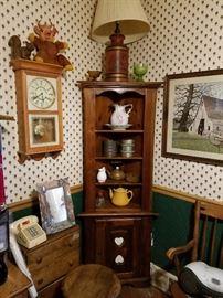 Corner Hutch Lamps Clocks