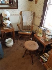 Lots of Vintage Furniture And Chairs