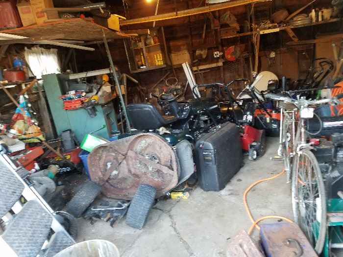 Loaded Garage Snow Blowers Sears Tractor with 42 inch Snow Blower