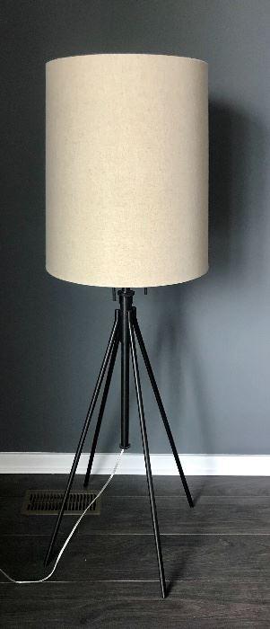 "Restoration Hardware Industrial-Style Floor Lamp.  Approx. 4' x 10"""