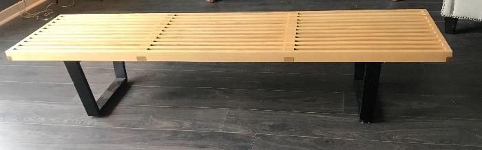 Restoration Hardware Midcentury-Style Open Slat Bench
