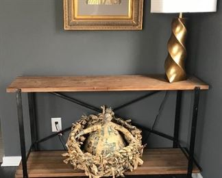 """Restoration Hardware Industrial/Rustic Console Table; Approx. 54"""" W"""