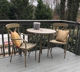 "Metal ""cane"" 3-Pc bistro set"