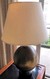 PVT009 Metal Lamp with Fabric Lampshade