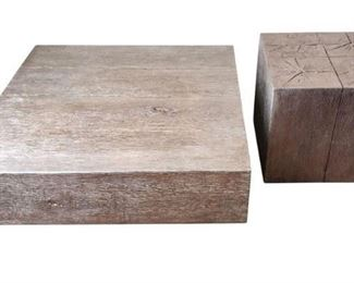 Silver coffee table and matching side table. High-end elegant decor to update and accentuate your room.