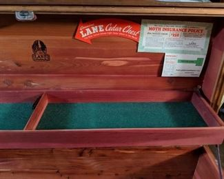 Lane Cedar Chest Interior