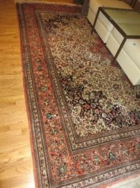 """CHI-SINO RUG (Salmon & Ivory) HAND-KNOTTED  10' X 8'2"""" SILK ORIENTAL RUG CENTER SALMON MEDALLION, FOUR BORDERS PURCHASED IN CHINA"""