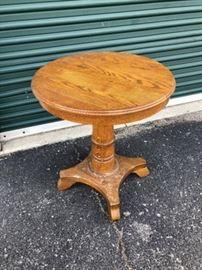Unusual Antique Oak End Table
