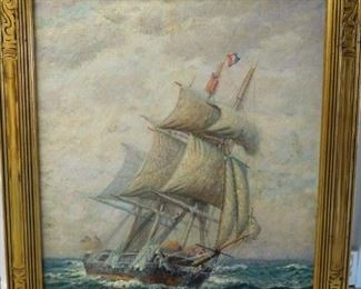 James G. Tyler - Listed Artist - Whaler in Mid-Ocean
