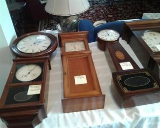 Many nice clocks