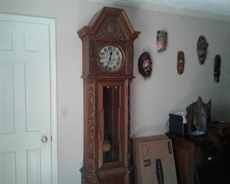 Black Forest 110-yr old working Grandfather clock