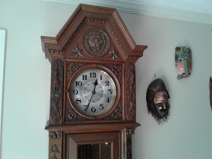 BLACK FOREST 110 YR. OLD GRANDFATHER CLOCK.