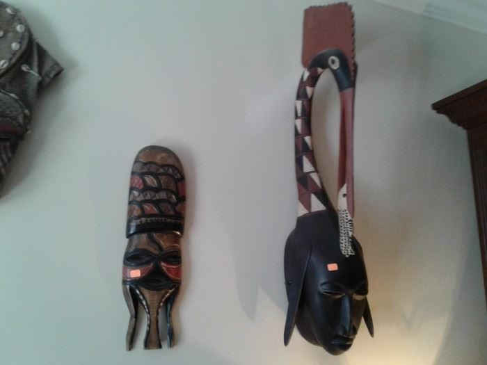 Many masks/tribal items