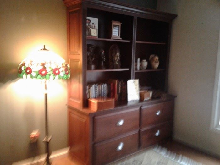 SOLID BLACK WALNUT AMISH BUILT EXEC. DESK ENSEMBLE IN OTHER PIC. PLUS THIS MATCHING BOOKCASE!  14,000 NEW.