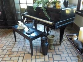 Steinway Baby Grand piano and bench