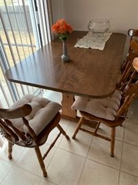 trestle dining table with 5 chairs,