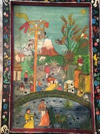Folk Art Primitive South American Painting