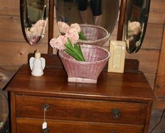 furniture antique 3 fold mirror vanity