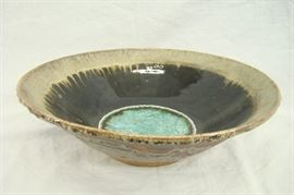 Custom Made Dock 6 Pottery Kerry Brooks Extra Large Geode Bowl Centerpiece