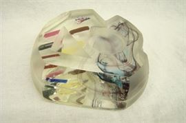 Unique Large Art Glass Paperweight