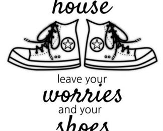 NoShoesHouseSign