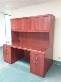 JSI Cherry Wood Executive Desk