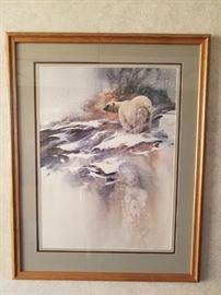Morten E. Solberg Signed Print Ice Bear