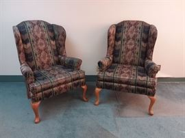Two Broyhill Wingback Chairs